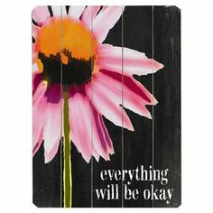 I pinned this Everything Will Be Okay Wall Art from the Chalkboard & Co. event at Joss and Main! Evoke bustling flea markets and old general stores with this charming wall art, showcasing a wood panel surface with warmly weathered detail. Wood Wall Decor, Wood Wall Art, Everything Will Be Ok, The Victim, New Wall, Joss And Main, Its Okay, Wall Signs, Les Oeuvres