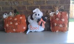Fall/Halloween Burlap Door Hangers, $25