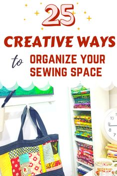 25 organizing ideas for sewing room - The Little Mushroom Cap: A Quilting Blog Organisation Hacks, Sewing Room Organization, Organising Tips, Organizing Ideas, Quilting Room, Quilting Projects, Space Crafts, Craft Space, Scrappy Quilts