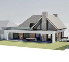 Villa boulevard Zandvoort – ABJZ, Architectenbureau Jules Zwijsen Design Villa Moderne, Modern Villa Design, Plans Architecture, Architecture Design, Dream Home Design, My Dream Home, Plan Ville, Conception Villa, Small Villa