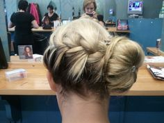 Braid and bun hair up