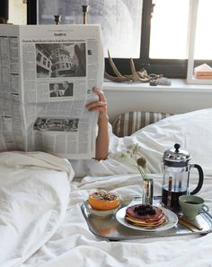 Breakfast in bed...nothing better!