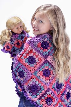 Crochet matching ponchos for your daughter and her doll with this how-to guide!