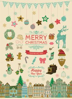 Christmas Doodle Icons by Olka on Creative Market