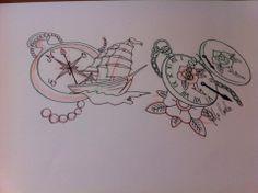 watch tattoo flash #tattoo sketch #tattoo flash #tattoo idea #traditional tattoo #old school tattoo #neo traditional tattoo