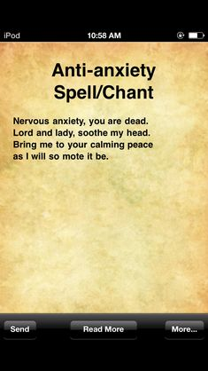 Anti-Anxiety Spell/Chant