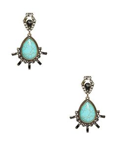 Genuine Turquoise Statement Earrings