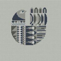 Danish Bird Cross Stitch Pattern PDF Pillow by WallflowerCushions Simple Cross Stitch, Modern Cross Stitch, Cross Stitch Designs, Cross Stitch Patterns, Cross Stitching, Cross Stitch Embroidery, Embroidery Patterns, Pixel Pattern, Cross Stitch Animals
