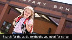 Students with visual impairment, physical disability or a learning difference like dyslexia: join www.LearningAlly.org to download unlimited audio textbooks for school.