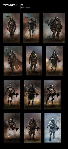 titanfall 2 concepts and sketches brad allen