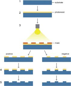 Schematic diagram of photolithography procedures.