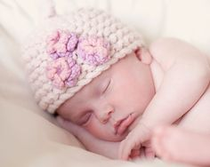 Items similar to KNITTING PATTERNS baby girl hat  pixie three flower  on  Etsy 54bac421a903