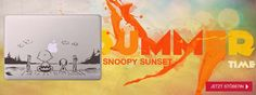 Wow. Endlich wieder Sommer, Sonne, Sonnenschein! Unser #Snoopy genießt die Zeit auf eurem Macbook!  http://www.macdecal.de/macbook-sticker-art/macbook-sticker-snoopy-sunset.html