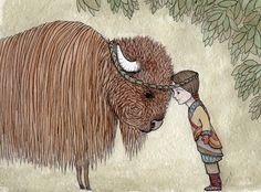 Wilderness, via Etsy; Flossy-P Eye Illustration, Illustrations, Greeting Card Shops, Pretty Art, Big Eyes, Spirit Animal, Art World, Mixed Media Art, My Drawings
