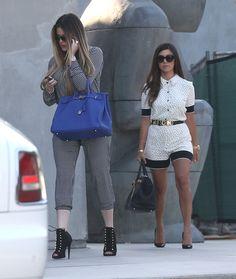 Kourtney Kardashian vists Dash Store with Khloe Kardashian in Romper | Kourtney Kardashian