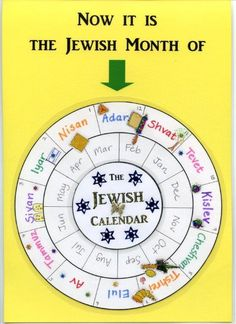 I wanted a simple calendar for my classroom which would show the entire Jewish year at a glance. So I made this: It is a laminated circle showing the Hebrew months set against the Gregorian calend. Adonai Elohim, Cultura Judaica, Jewish Year, Jewish Calendar, Jewish Crafts, Messianic Judaism, Hebrew School, Learn Hebrew, Hebrew Words