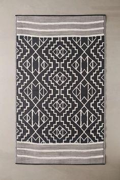 Gris Tribal Sculpté Flatweave Easy Clean Lavable intérieur//extérieur salle de séjour tapis
