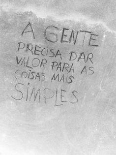 Viver é muito simples...