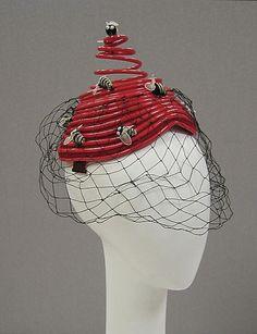 """A spectacular 1960s Bes Ben """"Bee"""" hat from The MET."""