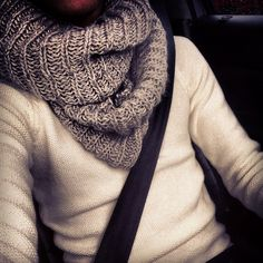 chunky scarves & knit sweaters.