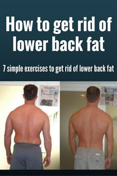 Men's Corner: How to get rid of lower back fat once and for all