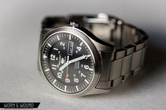 SEIKO SNZG13 BIG MILITARY Automatic, military dial, day/date, hardlex crystal, lumibrite, decent bracelet. Perfect for an every day watch.