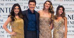 Gisele Bündchen posa ao lado de Rodrigo Faro em evento em São Paulo