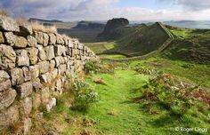 to Hadrian's wall in Northern England.  73 miles long, this was a fortified border during the Roman Empire under Emperor Hadrian's reign.  One of the lesser known Roman ruins!  And...I want to reenact the scene of Robin Hood, Prince of Thieves and pretend like I'm Kevin Costner as Robin Hood.  Bam, I said it.