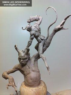 Easy Clay Sculptures : Simon Lee Spiderzero Sculptor Pacific Rim Kaiju Creature Designer Concept Artist