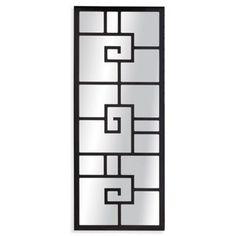Bassett Mirror Devin Wall Mirror Black Lacquer x - Window Grill Design Modern, House Window Design, Door Gate Design, Small Wall Mirrors, Contemporary Wall Mirrors, Iron Doors, Steel Doors, Home Design Plans, Black Mirror