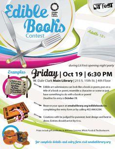 October 19, 2012: Edible Books Contest