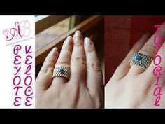 """excellent demo of the really fast peyote - DIY Tutorial Peyote """"Veloce"""" / Fast peyote with English subtitles! Tutorial Anillo, Ring Tutorial, Diy Beaded Rings, Diy Rings, Handmade Rings, Handmade Beads, Custom Earrings, Beading Tutorials, Necklaces"""