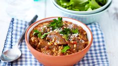 TOMATO, BEER AND BOEREWORS RISOTTO RECIPE - Give this traditional Italian dish a good punch of flavour by adding boerewors and beer - sure to satisfy any South African man's tummy, definitely worth all the stirring that is required! Traditional Italian Dishes, South African Recipes, Risotto Recipes, Cooking Classes, Mozzarella, Food Dishes, Punch, Rice, Cooking Recipes