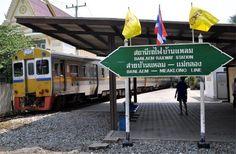 Bahnhof Banlaem der Banlaem-Meaklong-Eisenbahn, Thailand