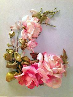 (3) Di van Niekerk's Silk Ribbon Embroidery