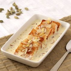 Shahi Tukra with Condensed Milk - Indian style Bread Pudding with Creamy Rabri - Diwali Dessert