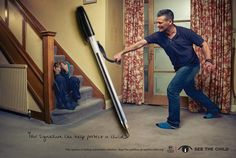 Kids Company: Belt Your signature can help protect a child. Advertising Agency: AMV BBDO, London, UK