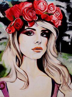 Lana Del Rey PRINT A4 on canvas paper Painting Art Fine Art
