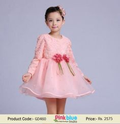 Unique Rose Pink Birthday Party Dress For Toddler