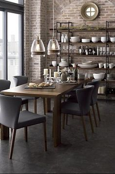 Beautiful Modern Farmhouse Dining Room Decor Ideas – Home Decor Ideas Large Dining Room Table, Gray Dining Chairs, Dining Room Design, Dining Area, Dining Tables, Dining Rooms, Room Chairs, Kitchen Tables, Kitchen Decor