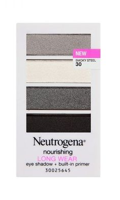We can't live without Neutrogena's Nourishing Longwear Eye Shadow + Built-In Primer in Smoky Steel. Best part? Sold in your local drugstore. *gasp*