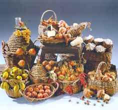 Baskets with fruits of colored wax | Flickr - Photo Sharing!