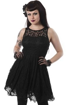 I'm not into the goth look but this dress is really cute. Poizen Industries Joss Dress, £52.99