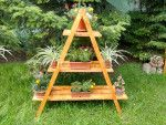 Shelf How to build an a-frame plant stand – HowToSpecialist – How to Build, Step by Step DIY Plans T Plant Ladder, Diy Ladder, Garden Plant Stand, Diy Plant Stand, Hanging Plants, Indoor Plants, Porch Plants, How To Build Steps, Wooden Plant Stands