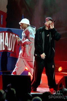 Eminem Performance at Roseland, New York City. 10/28/2004 Eminem and Proof