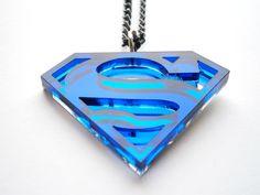 Acrylic Superman necklace