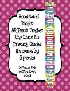 Accelerated Reader (AR) Points Clip Chart (every 5 points)