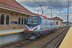 SEPTA testing an ACS-64 in March;;  Amtrak664WayneJunctionPA Railroad Industry, Railroad History, Railroad Photography, Electric Locomotive, Regional, Trains, Transportation, March, Usa