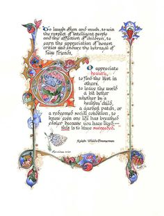 To Have Succeeded - Limited Edition Illuminated Calligraphy Artist Print- Angelwurx by Rae