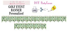 Golf Party or Event...Printable Banner...Personalized